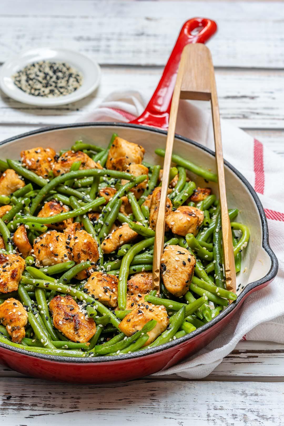 Clean Chicken and Green Bean Stir Fry Recipe