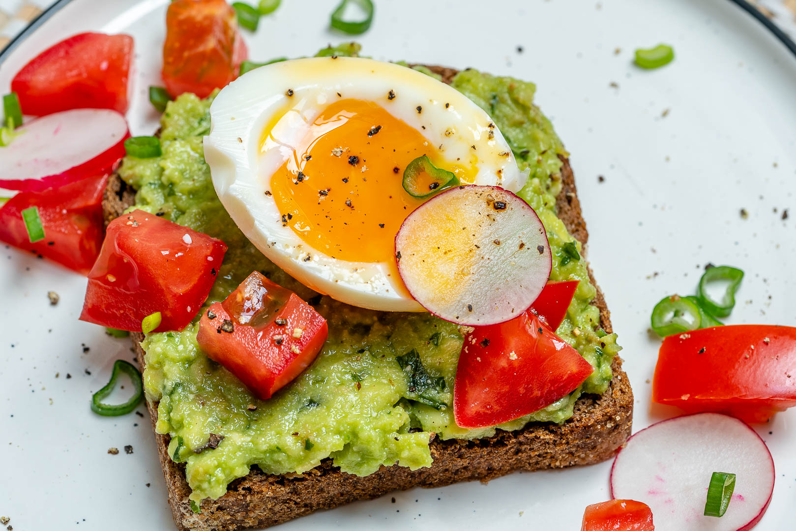 Soft Boiled Egg Avocado Toast Clean Eating Breakfast