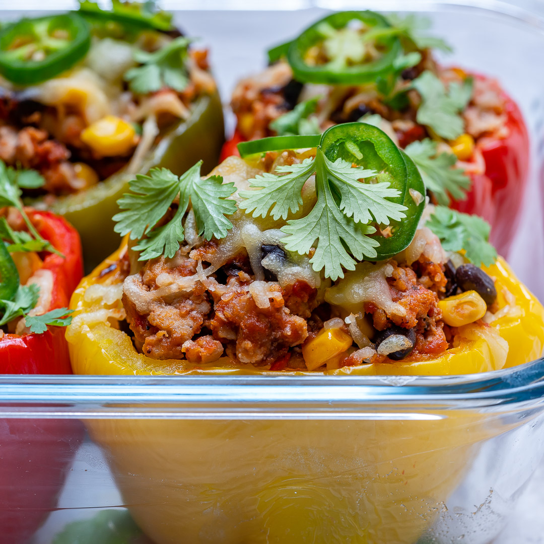 Healthy Meals Burrito Stuffed Peppers