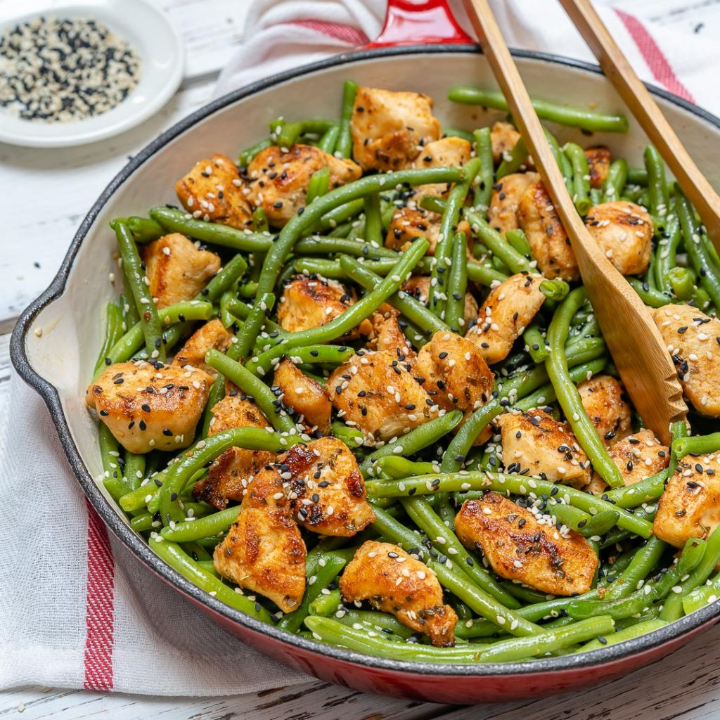 Chicken and Green Bean Stir Fry Simple Clean Eating Meal