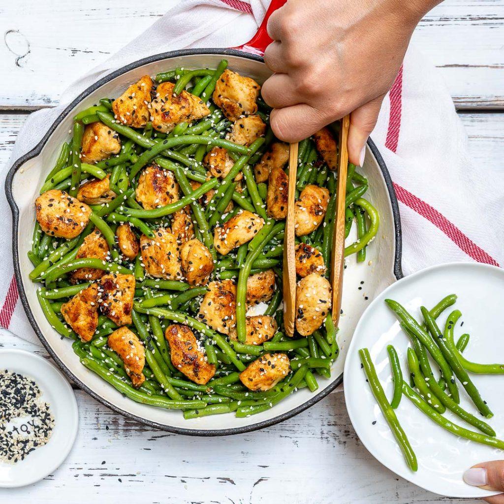 Clean Eats Chicken and Green Bean Stir Fry