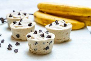 Clean Eats Chocolate Chip Banana Ice Cream Cups