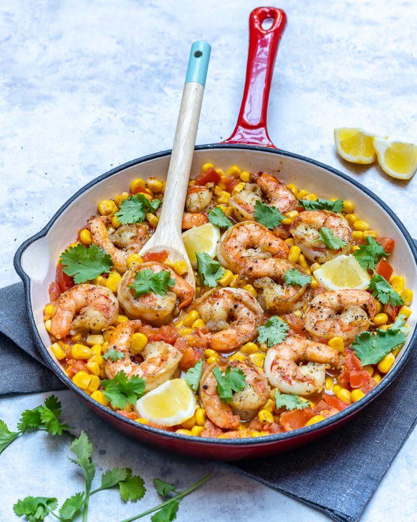 Clean Eats Healthy Shrimp Skillet