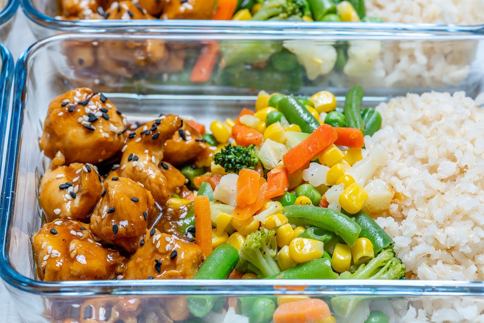 Clean Eats Meal-Prep Teriyaki Chicken Bowls