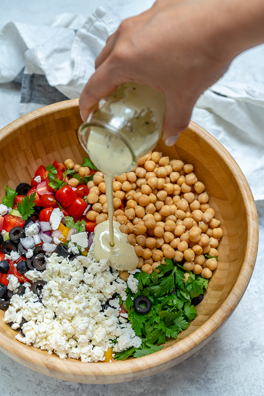 Chickpea Salad Food Prep