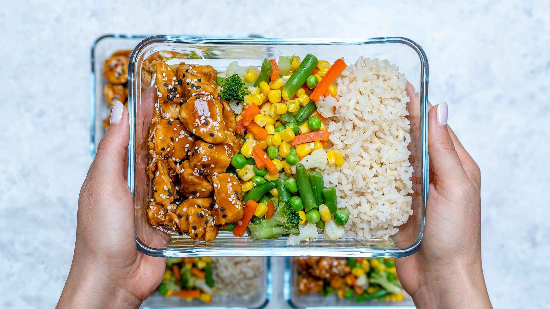Clean Food Prep Teriyaki Chicken Bowls