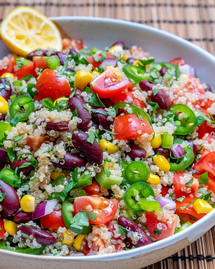 Clean Quinoa Red Bean Veggie Salsa Recipe