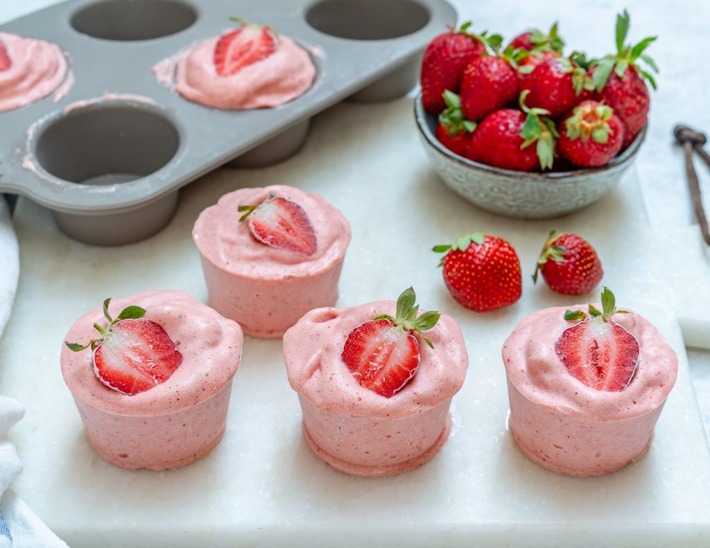 Clean Strawberry Protein Cream Cups Recipe