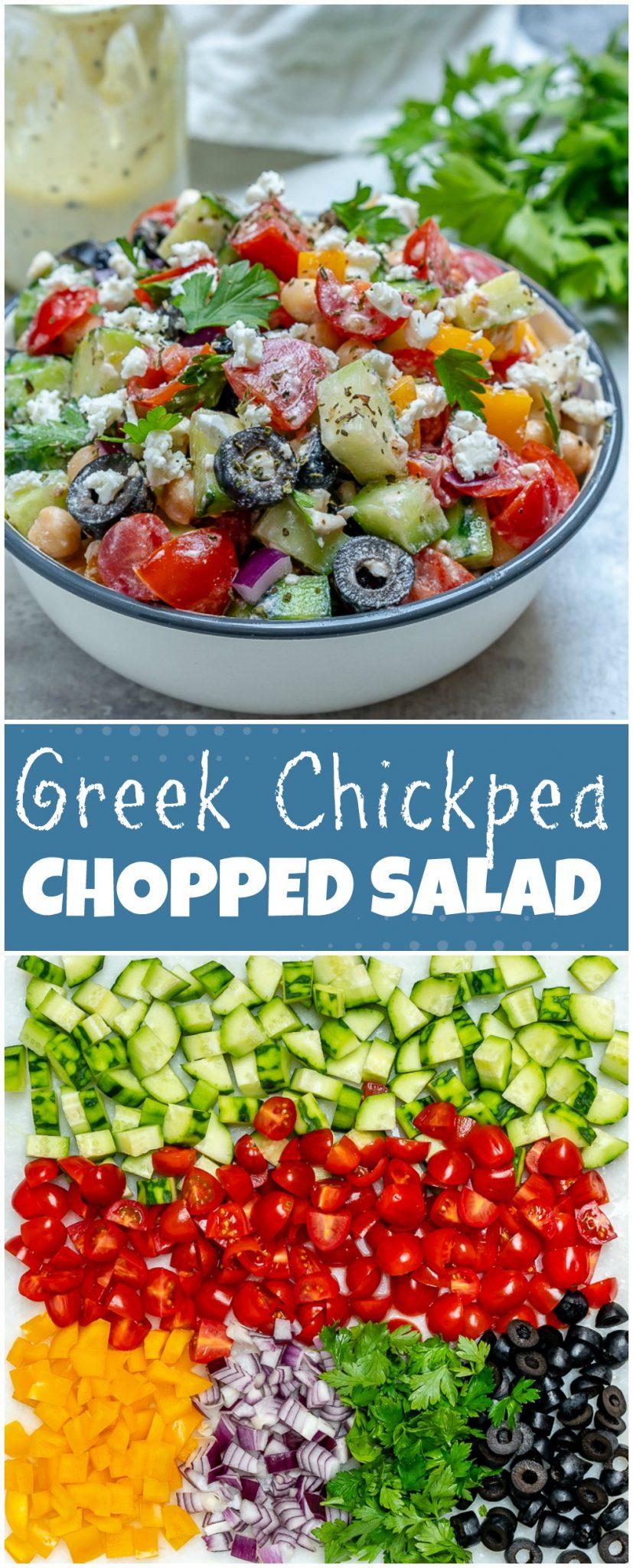 CleanFoodCrush Greek Chickpea Salad