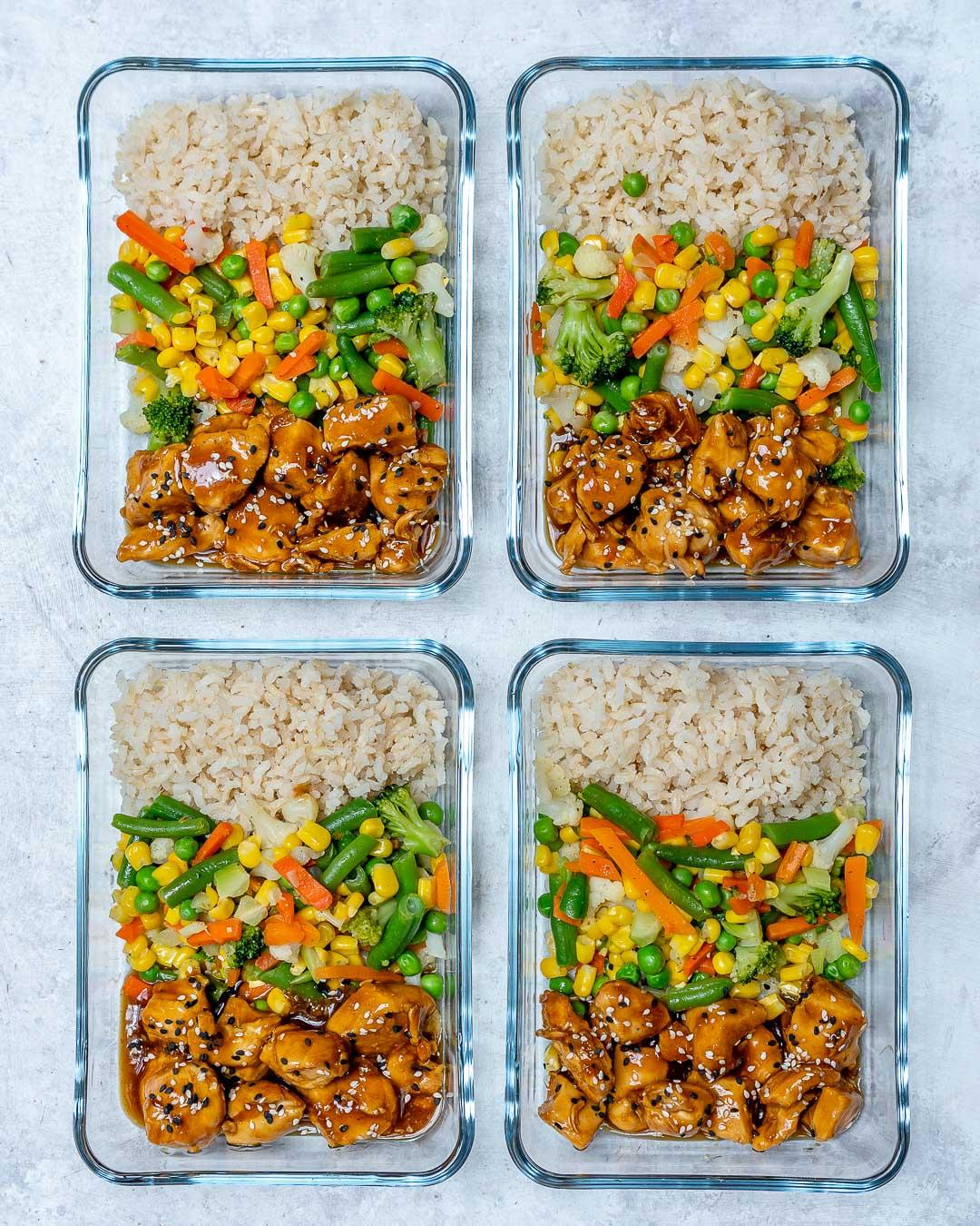 Chicken Teriyaki Bowls Healthy Recipe