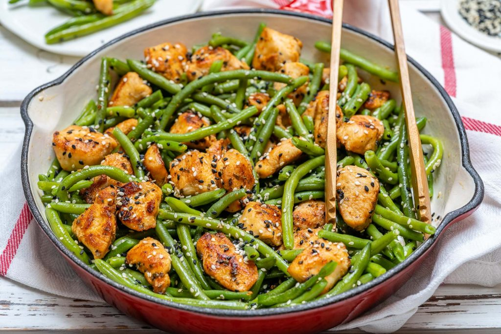 Eat Clean Chicken and Green Bean Stir Fry