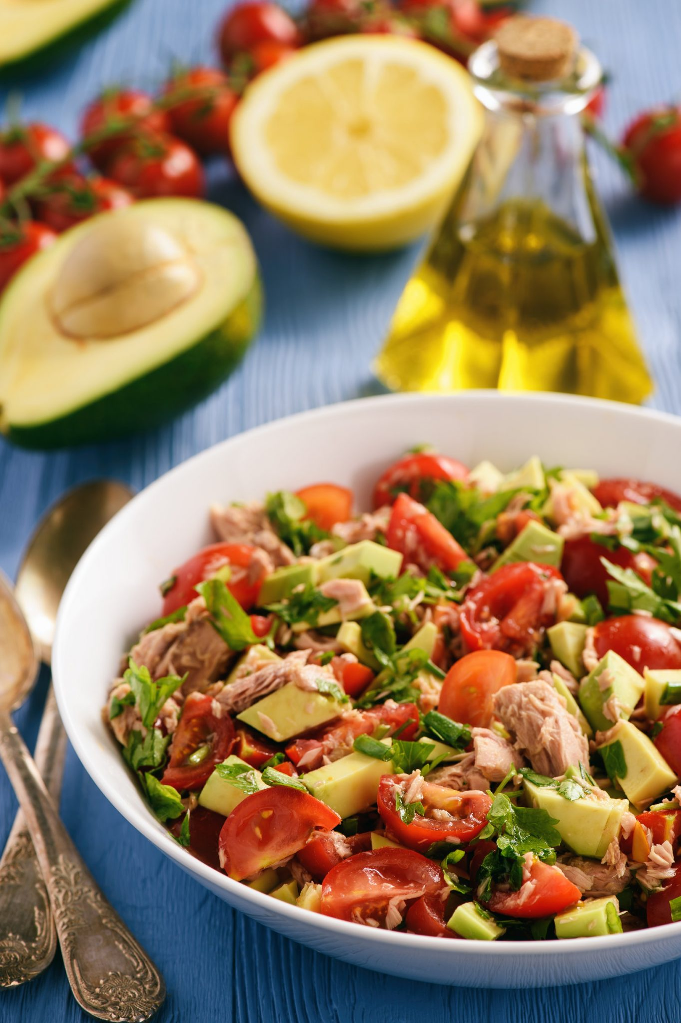 Eat Clean Lemony Avocado Tomato Tuna Salad