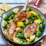 Eat Clean Lemony Chicken + Broccoli Skillet Meal