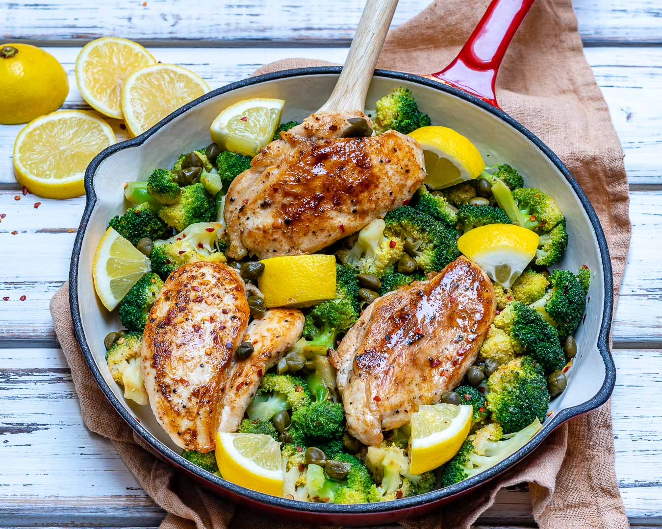 Eat Clean Lemony Chicken Broccoli Skillet Meal