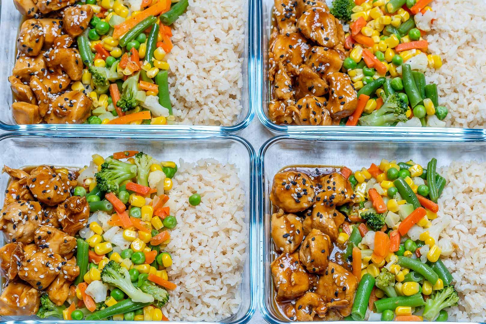 Eat Clean Meal-Prep Teriyaki Chicken Bowls