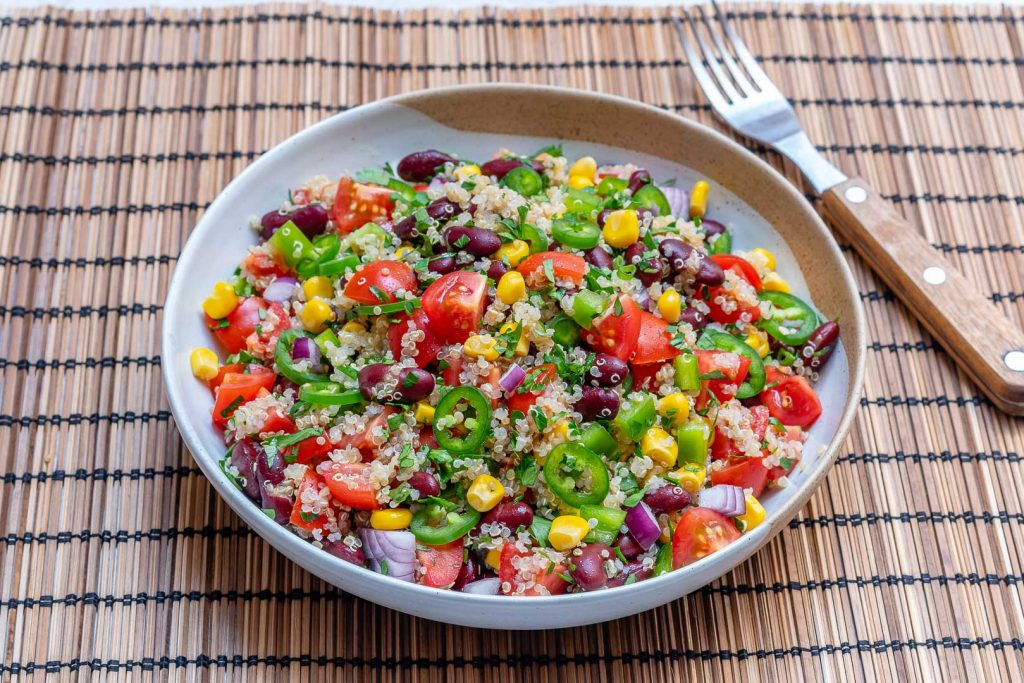 Eat Clean Quinoa Red Bean Veggie