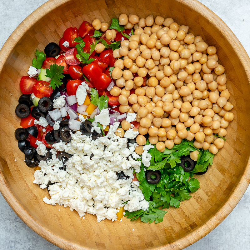 Greek Chickpea Salad Ingredients