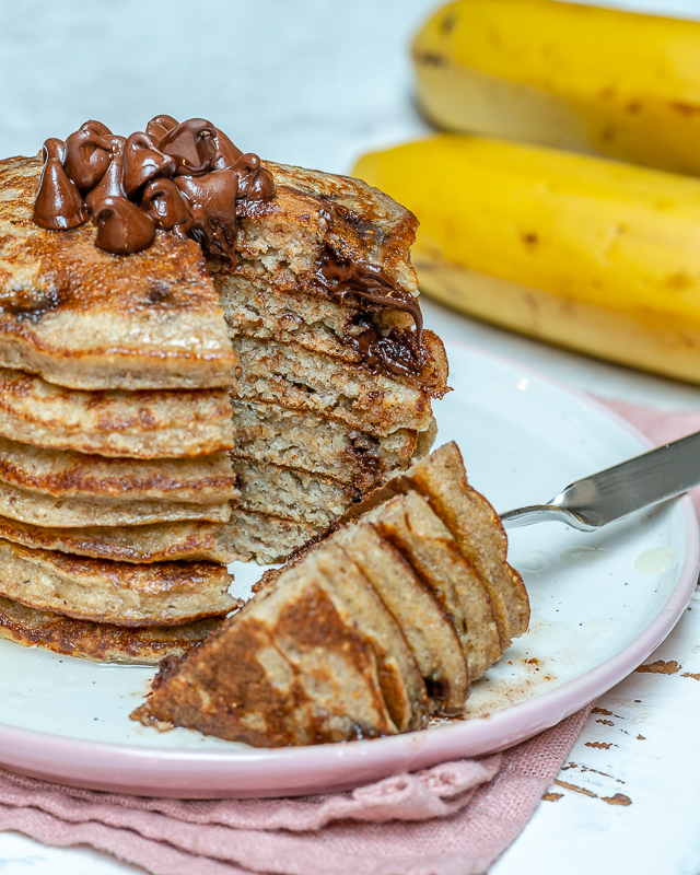 Healthy Chocolate Chip Protein Pancakes