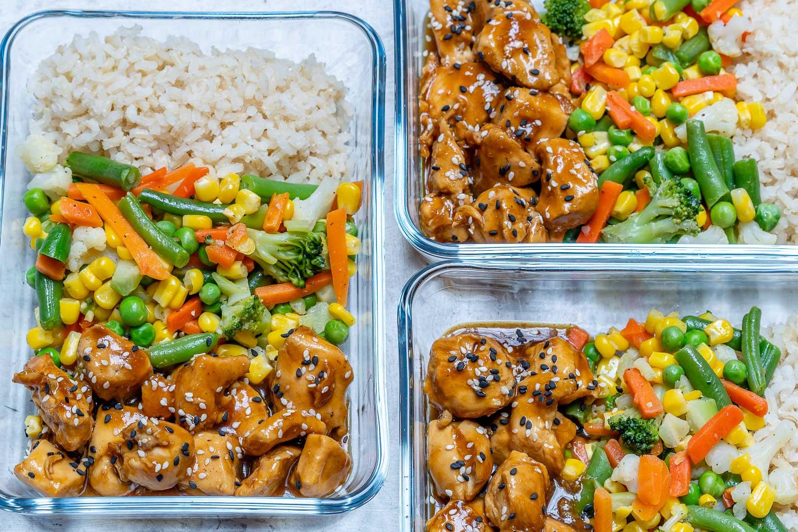 Healthy Meal-Prep Teriyaki Chicken Bowls