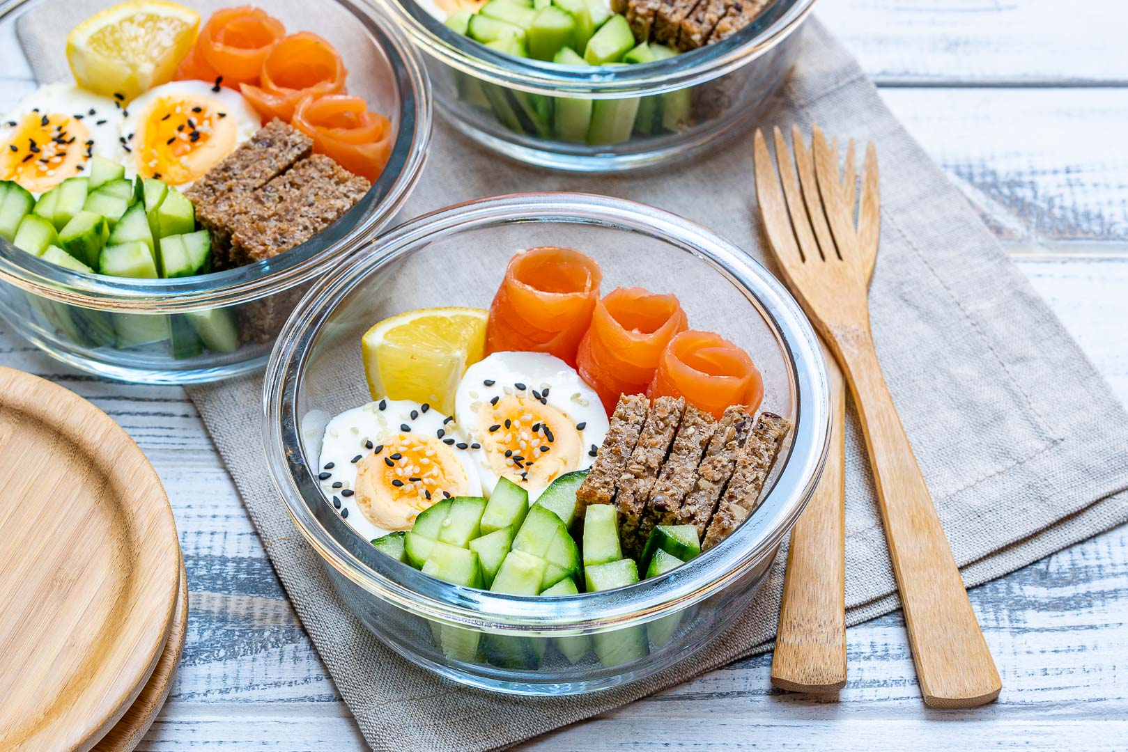 Healthy Lunch Ideas Smoked Salmon Bento Boxes