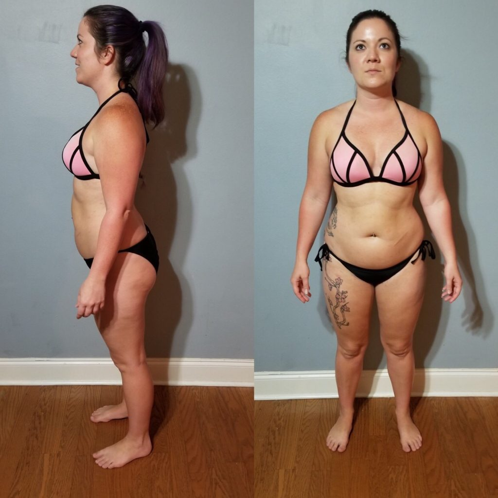 Kristen Before 30-Day Clean Eating Challenge