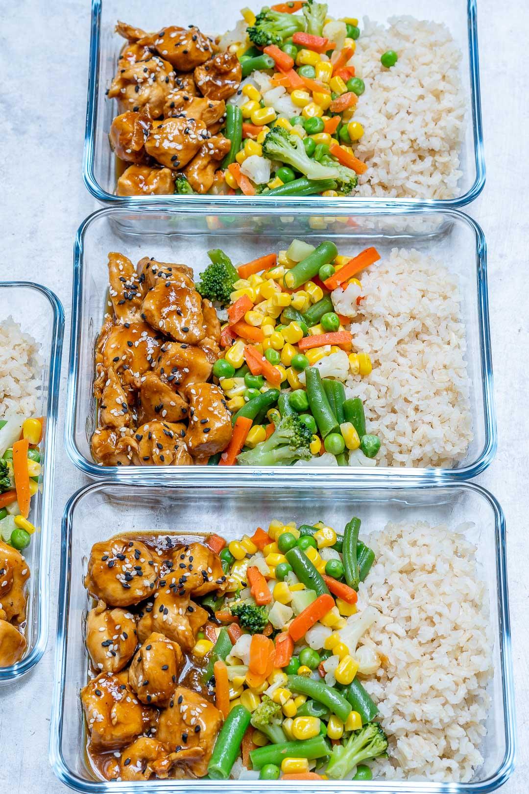 Teriyaki Chicken Bowls Clean Eating Meal Plan