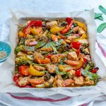 Quick Sheet Pan Teriyaki Chicken + Veggie Stir Fry