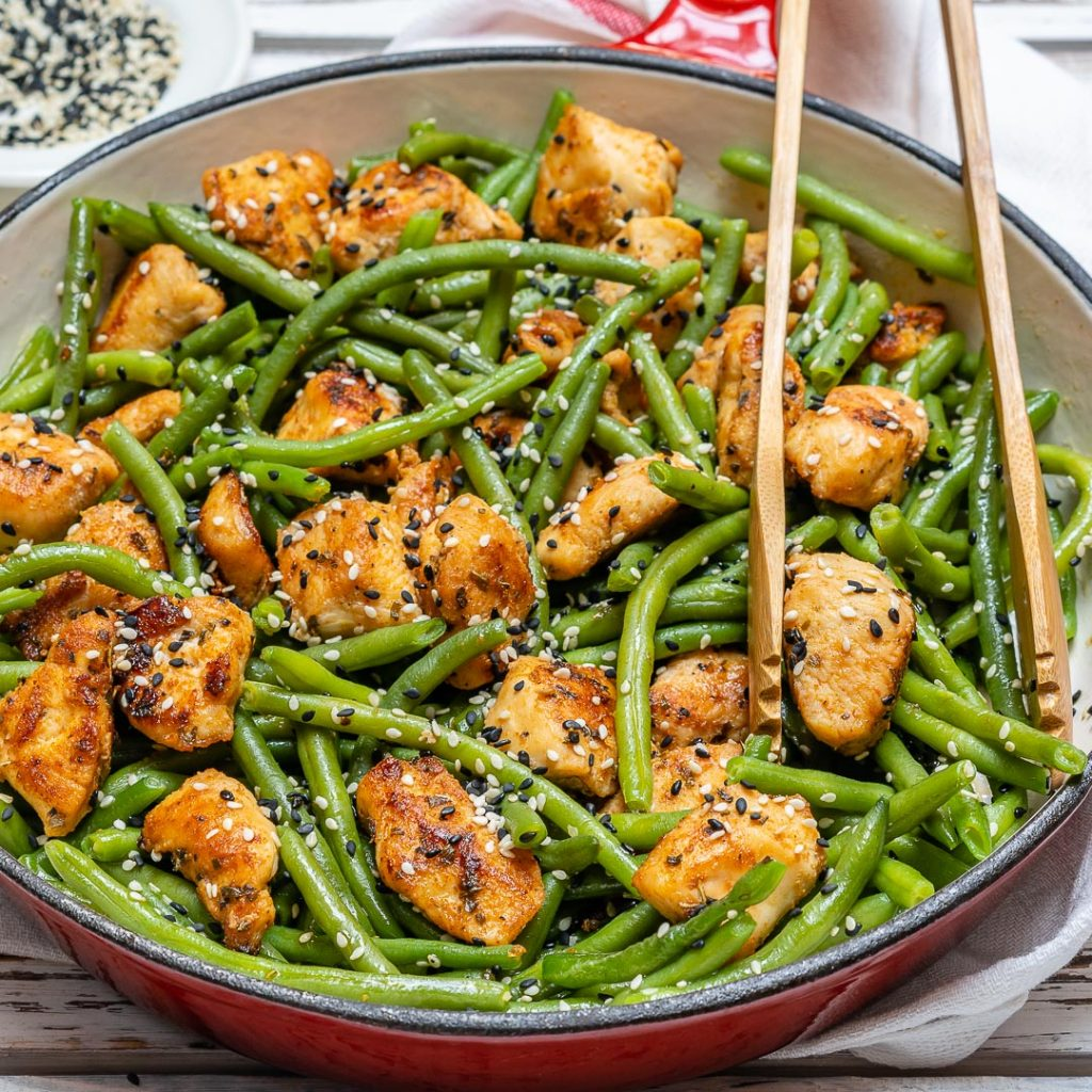 Chicken Green Bean Stir Fry Healthy Dinner Recipe