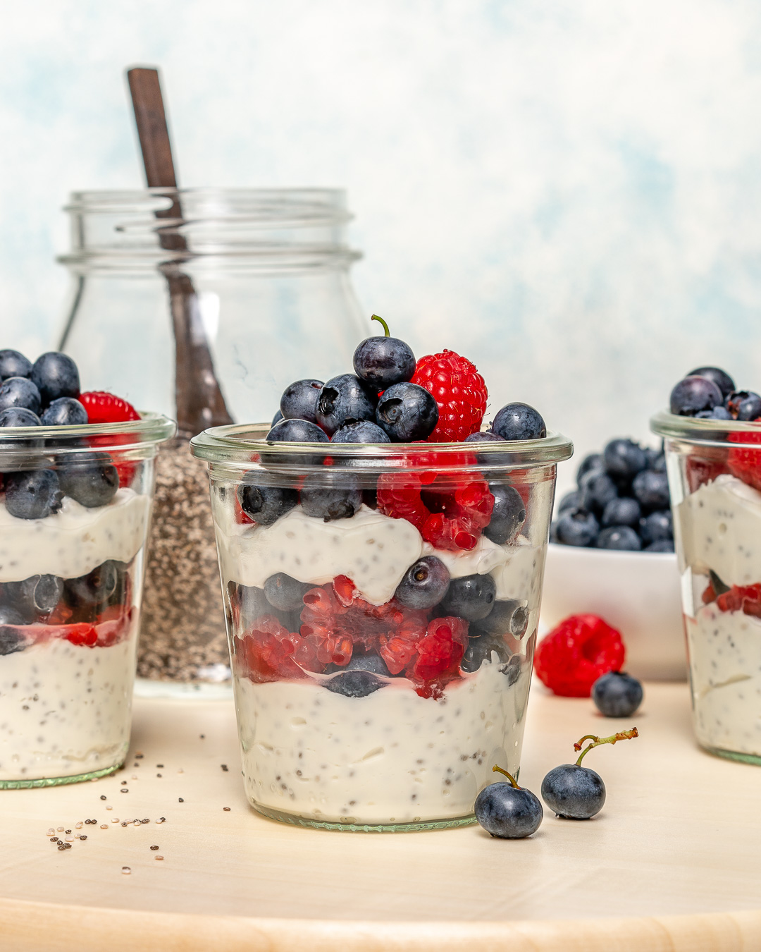 Berry Parfait Chia Jars Recipe