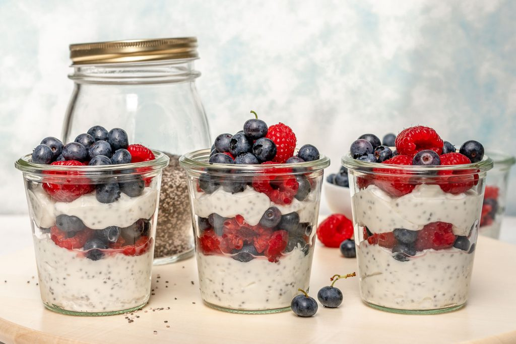 Clean Berry Parfait Chia Jars Ingrdients