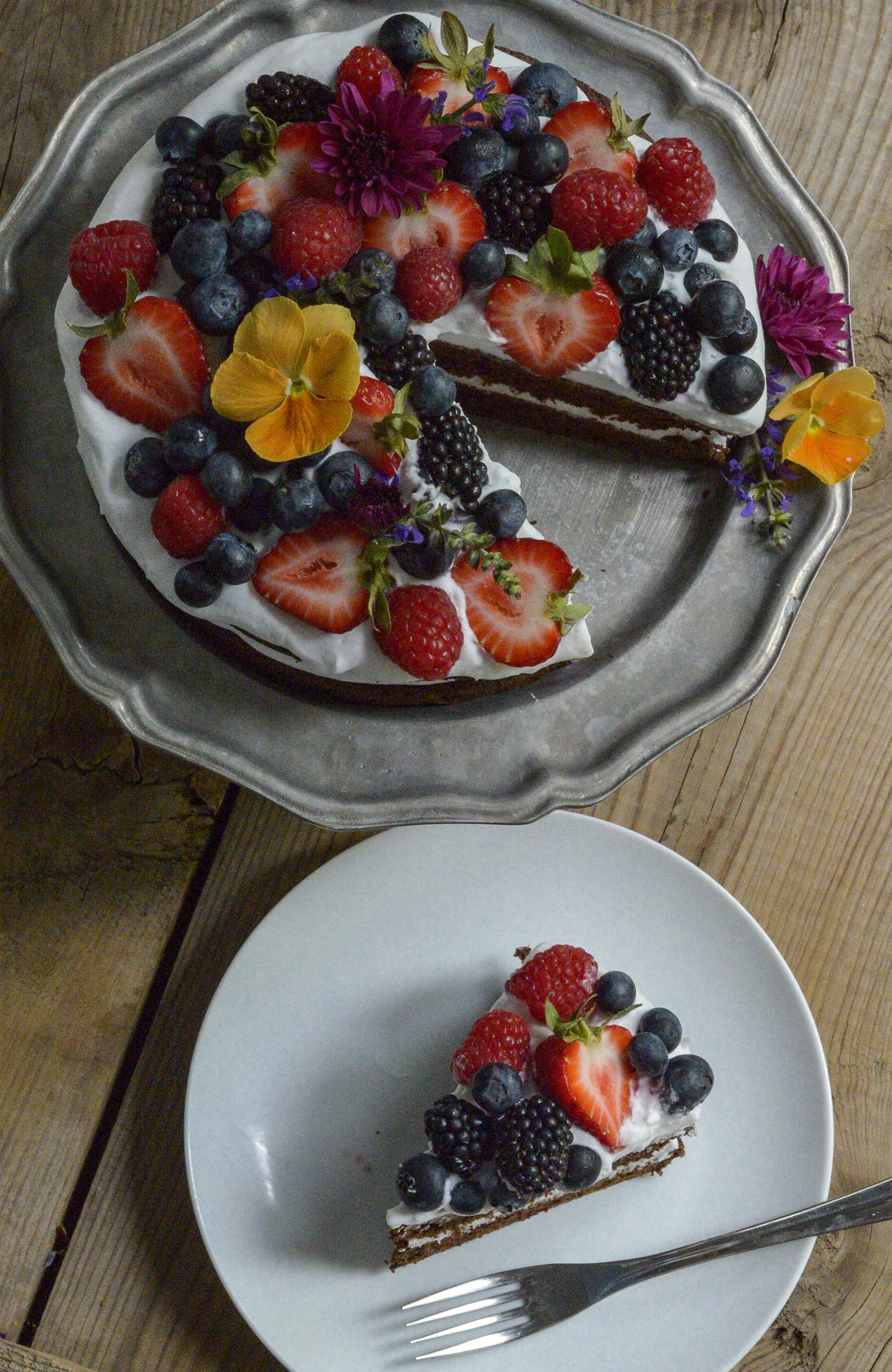 Chocolate Summer Cake by Rachel Maser
