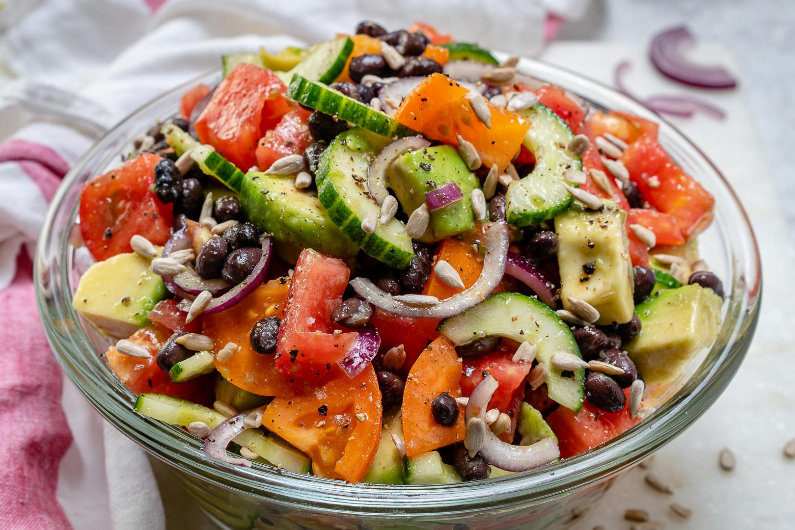 Clean Eats Salad Avocado Black Bean
