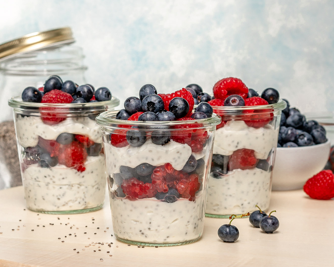 Clean Eats Berry Parfait Chia Jars