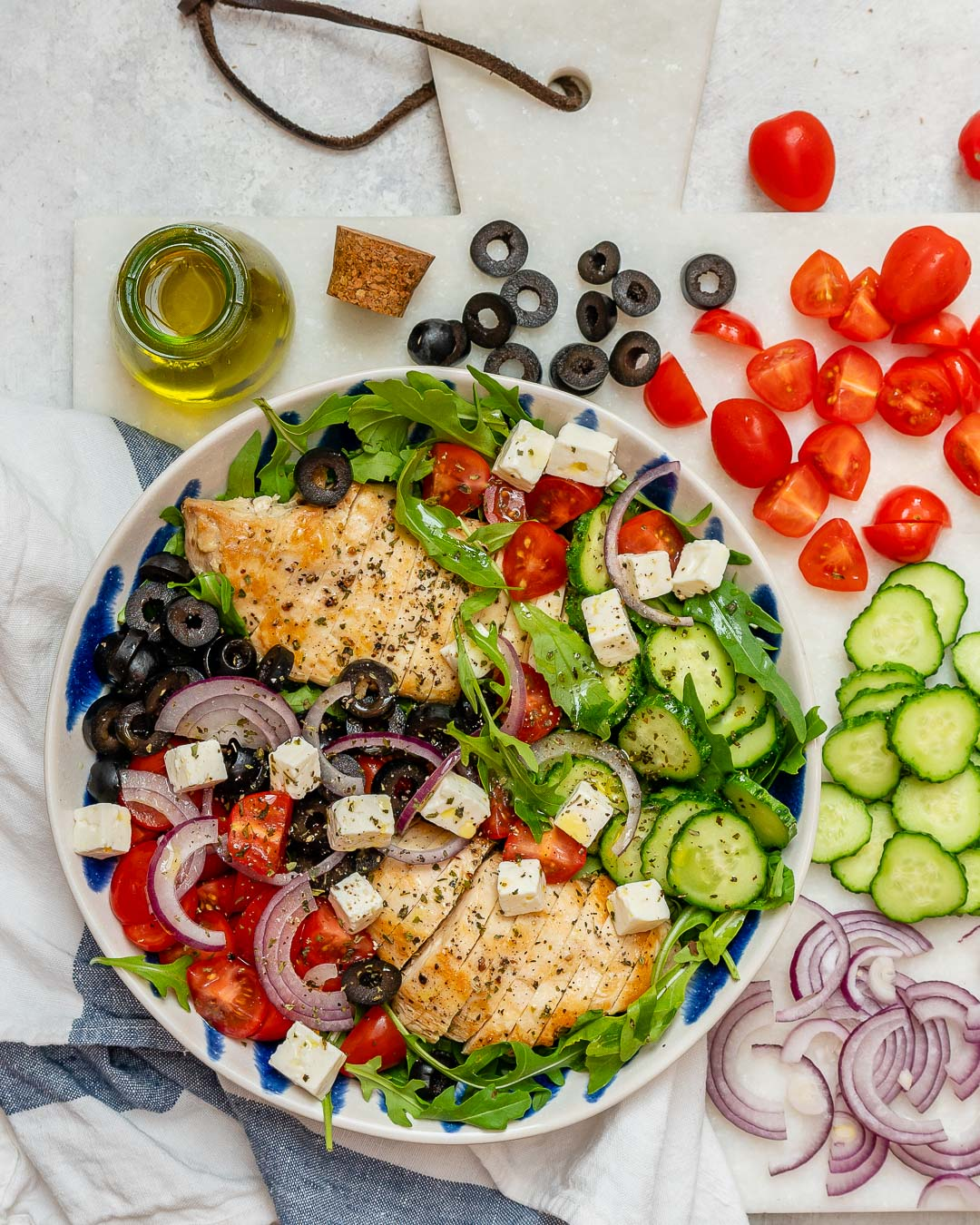 Clean Greek Chicken Chopped Salad Recipe