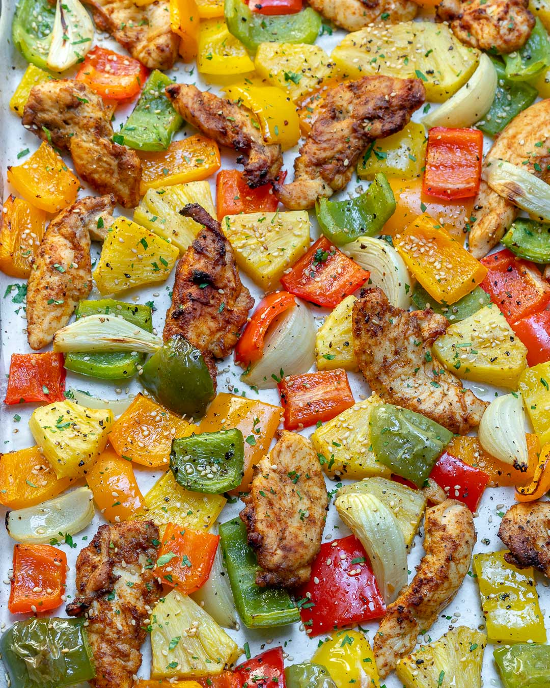 Clean Eats Sheet Pan Hawaiian Pineapple Chicken