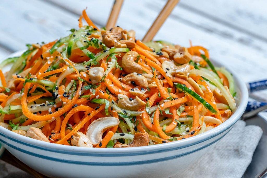 Clean Thai Veggie Noodle Salad Recipe