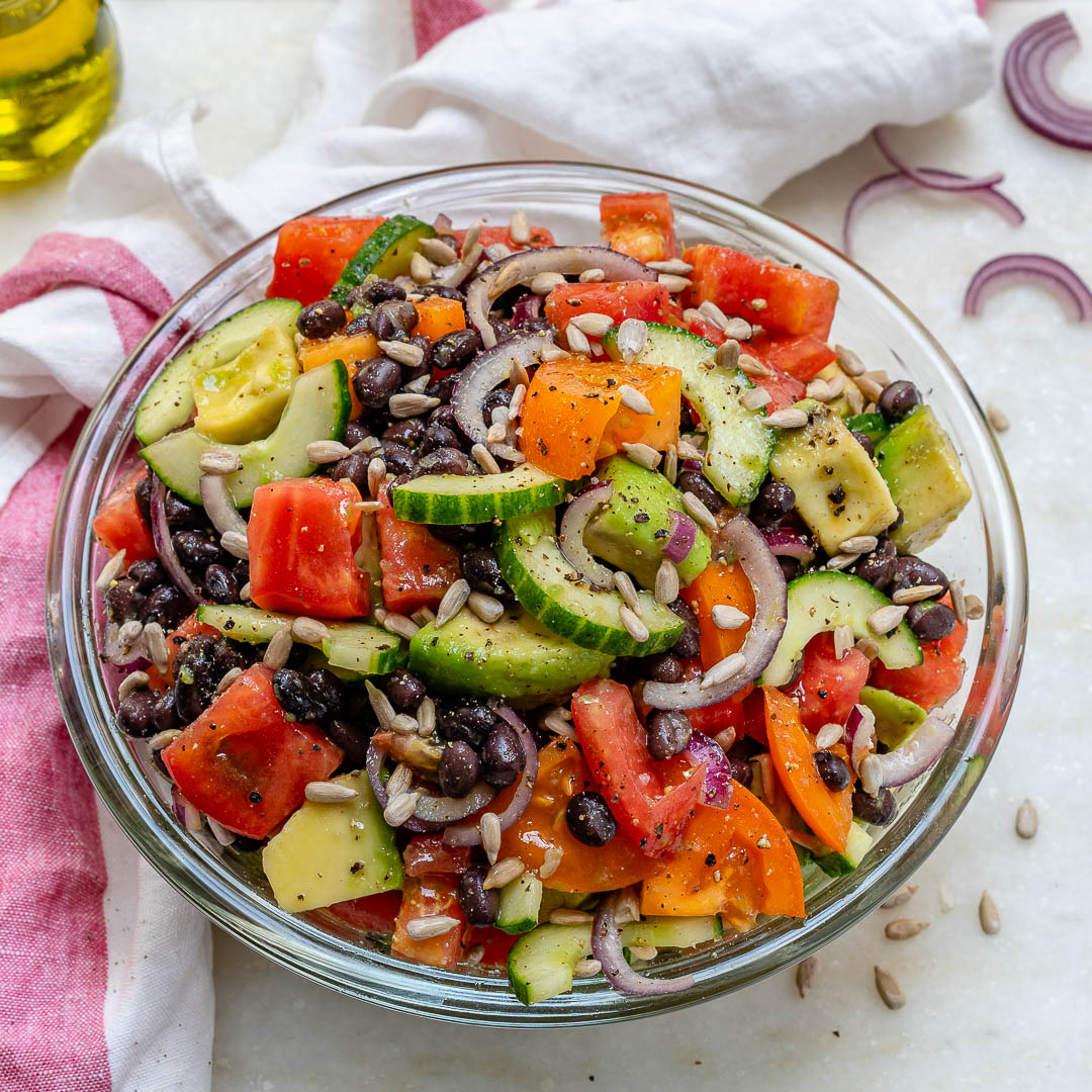 Healthy Chopped Avocado and Veggies Bowl