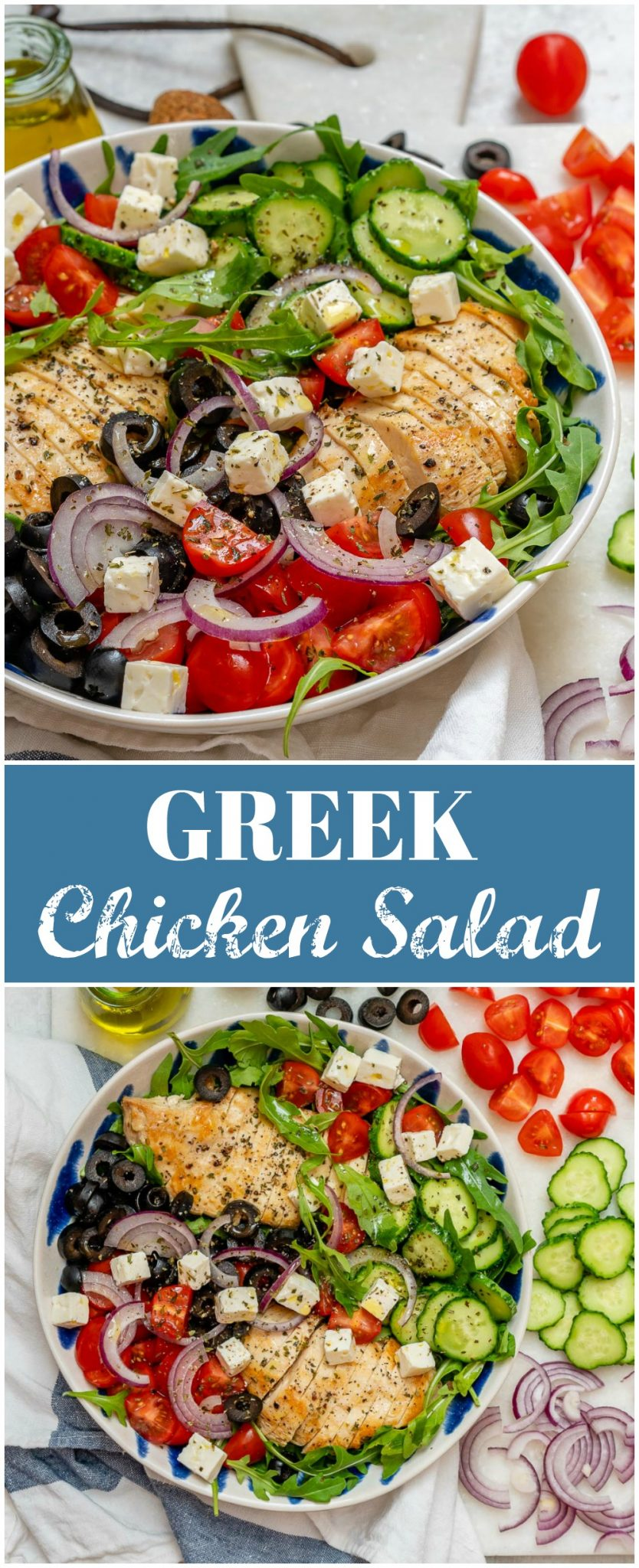 CleanFoodCrush Greek Chicken Chopped Salad