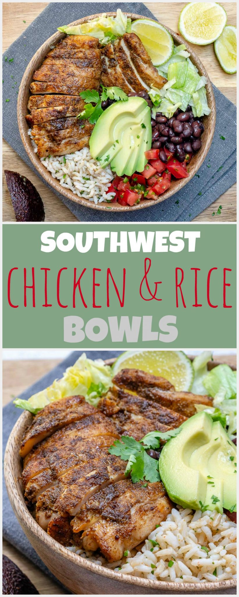 CleanFoodCrush Southwest Chicken Rice Bowls