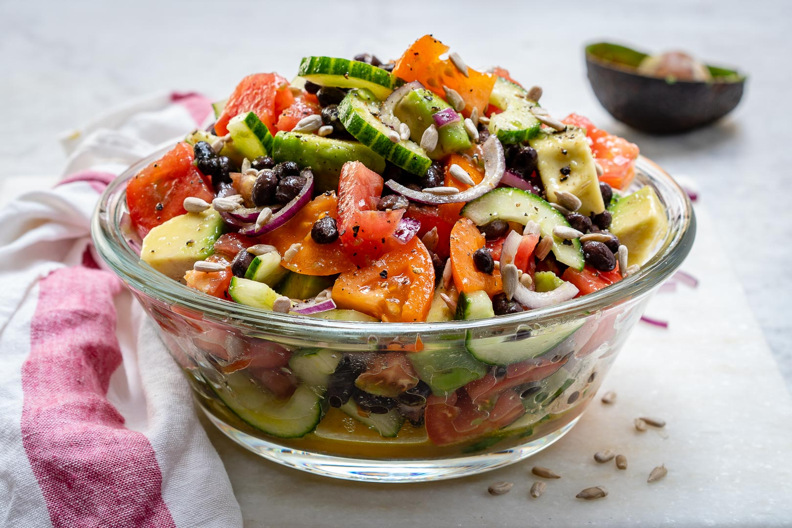 Eat Clean Avocado + Black bean salad