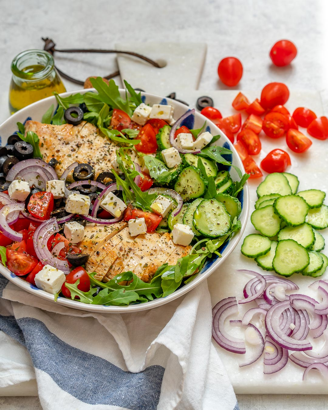 Eat Clean Salad Greek Chicken Recipe