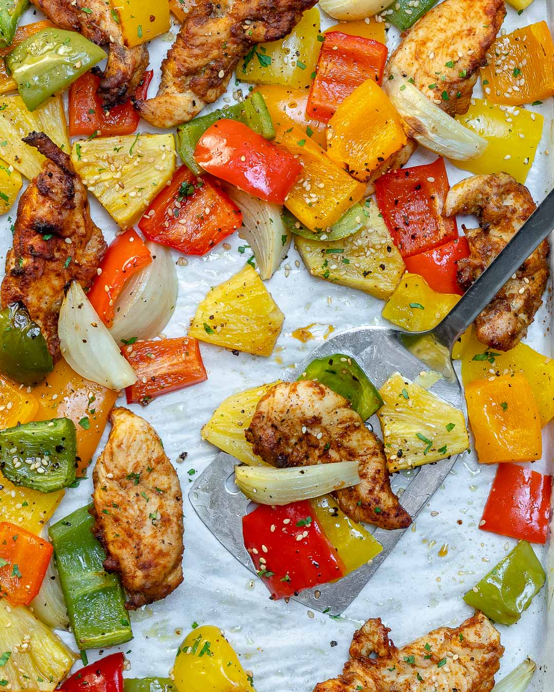 Eat Clean Sheet Pan Hawaiian Pineapple Chicken