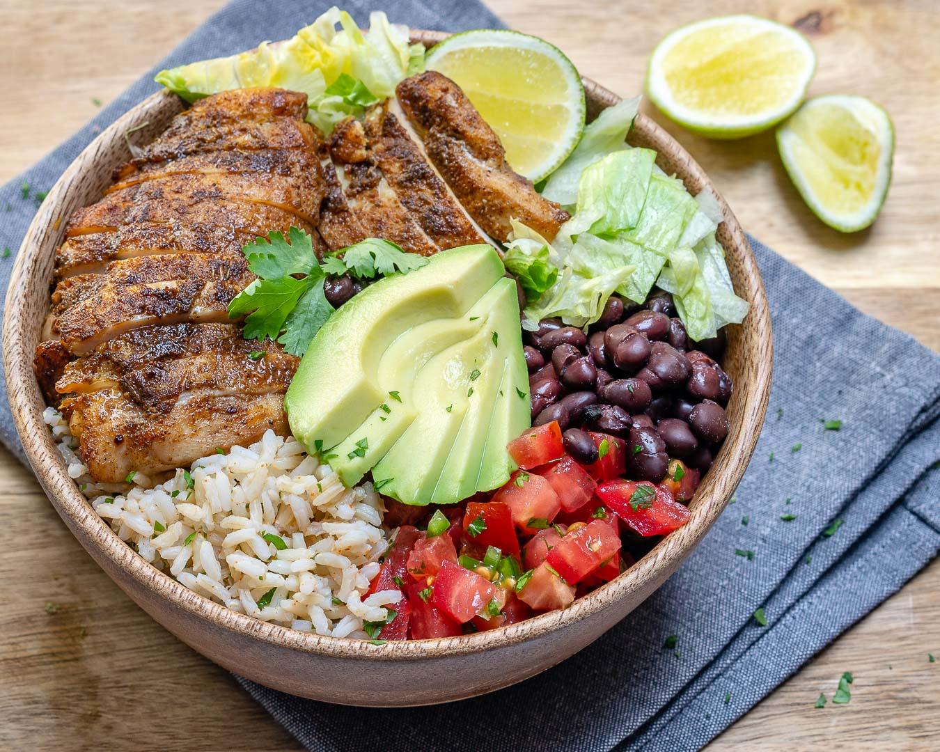 Eat Clean Southwest Chicken + Rice Bowls