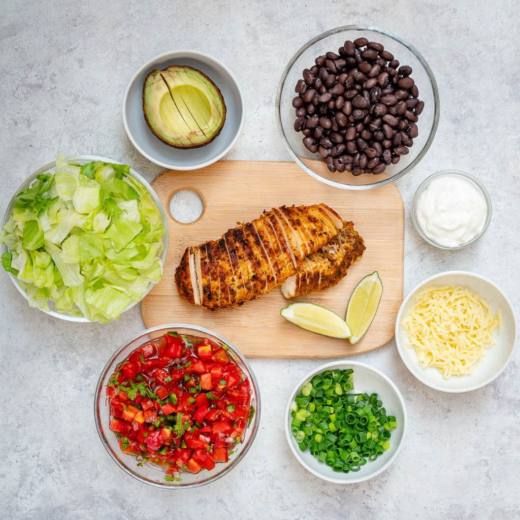 Grilled Chicken Burrito Salad Bowl Clean Recipe