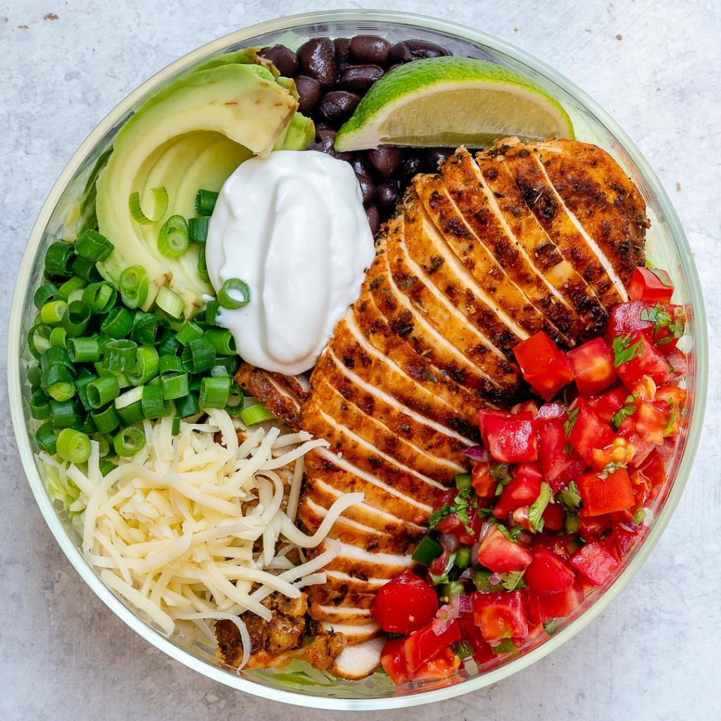 Grilled Chicken Burrito Salad Bowl