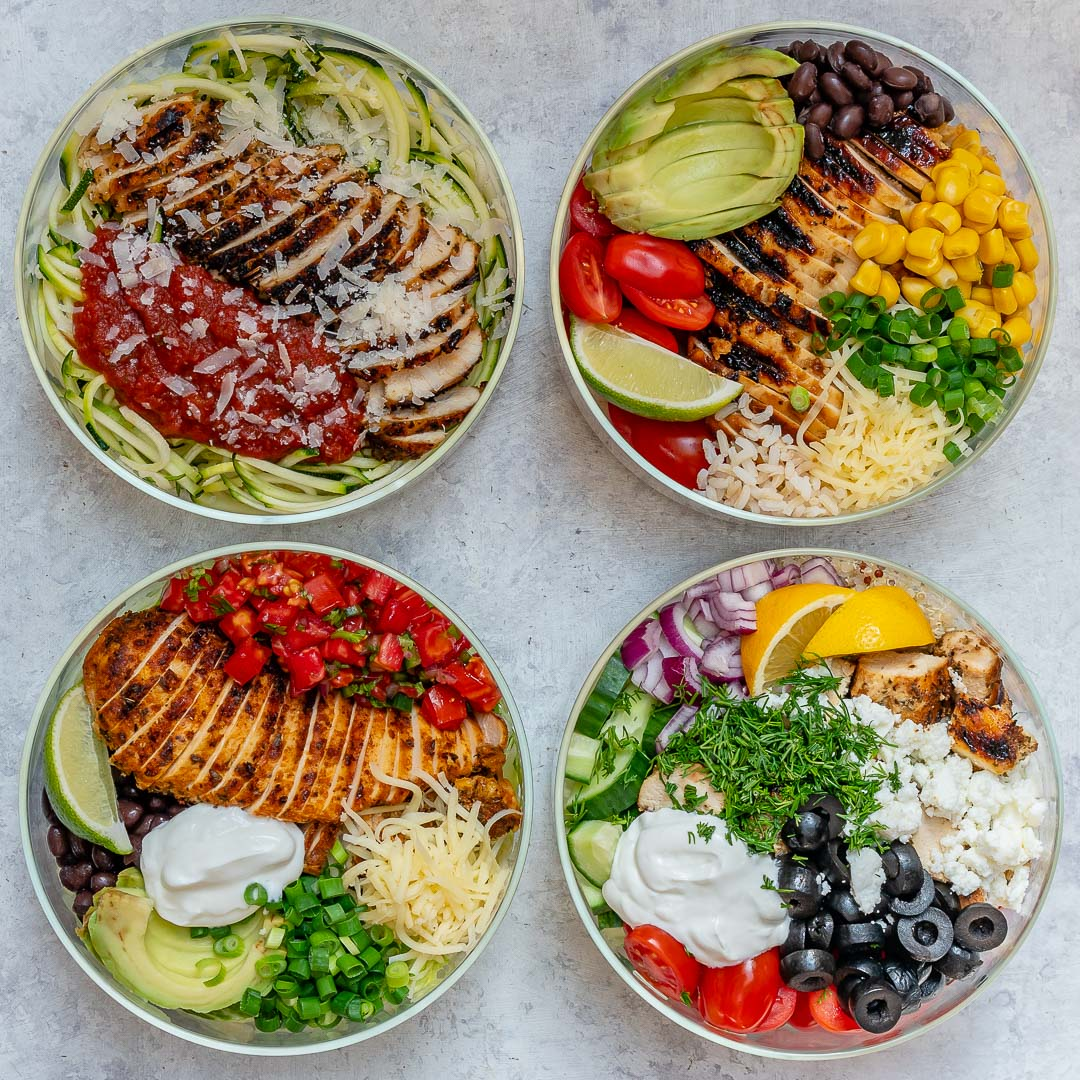 4 Grilled Chicken Bowls Healthy Dinner Ideas