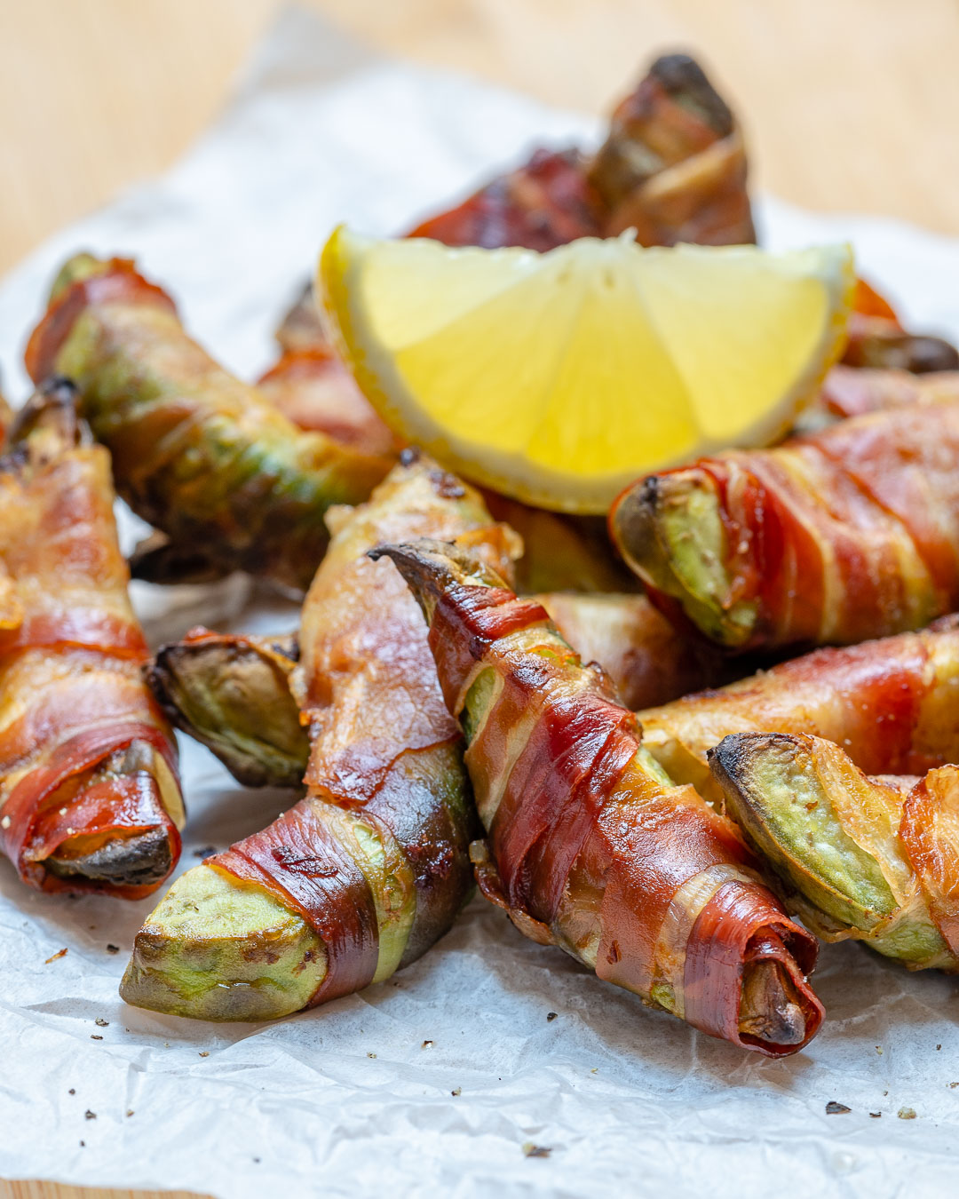 Healthy Bacon Wrapped Avocado Fries