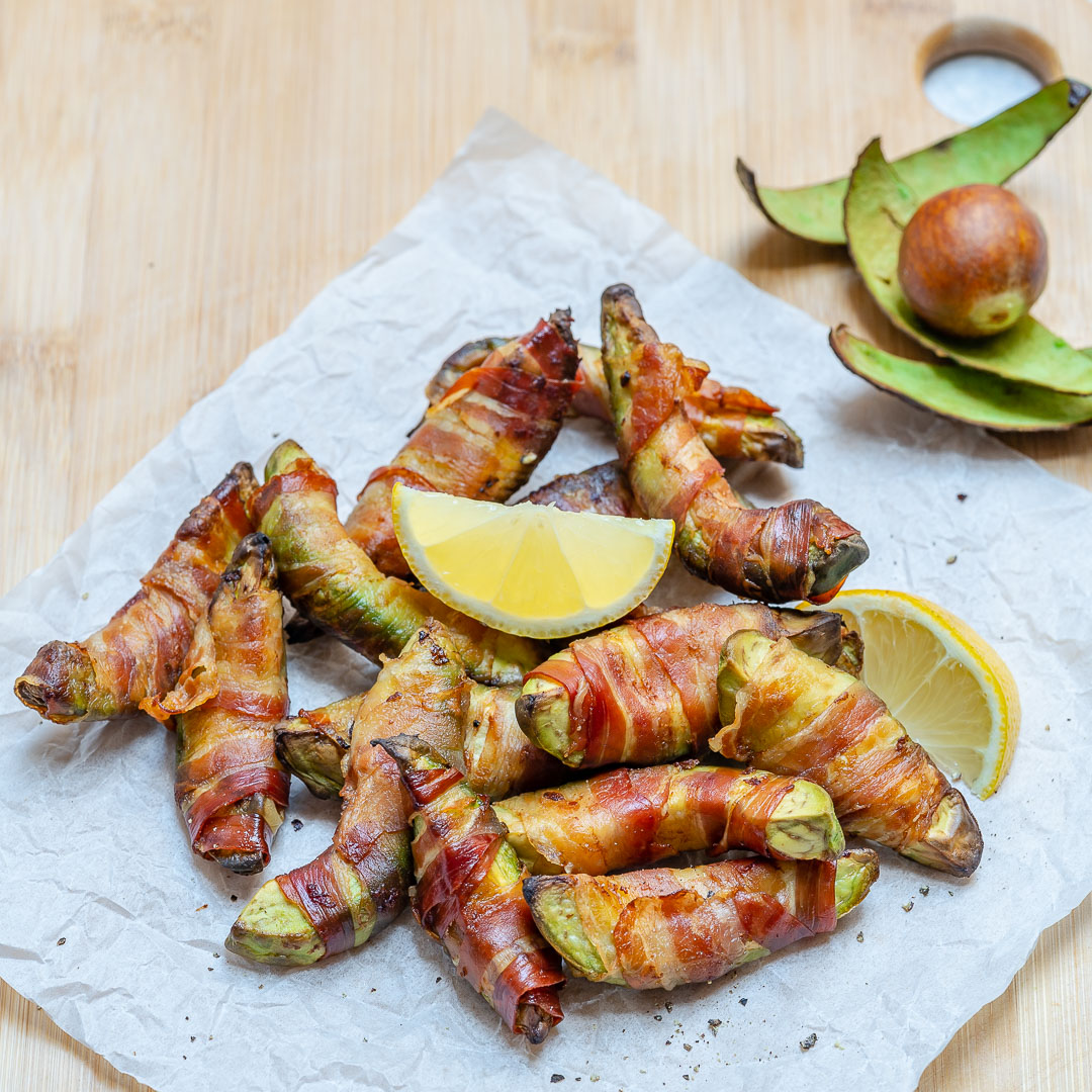 Bacon Wrapped Avocado Fries How To