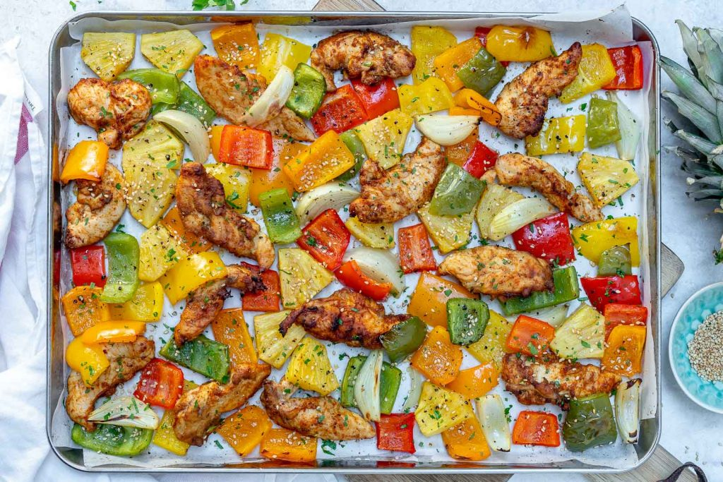 Sheet Pan Hawaiian Pineapple Chicken by CFC