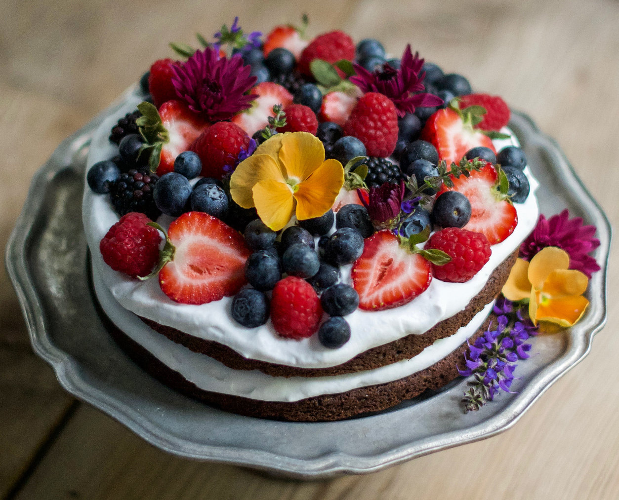 Summer Chocolate Cake by CleanFoodCrush